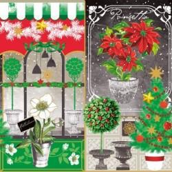 Serwetka do decoupage - Świąteczny kolaż 2