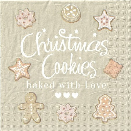 Serwetka do decoupage - Świąteczne ciasteczka 2