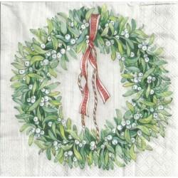 Serwetka do decoupage - Świąteczny wieniec 2