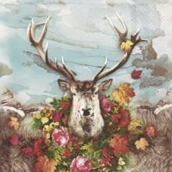 Serwetka - Głowa jelenia