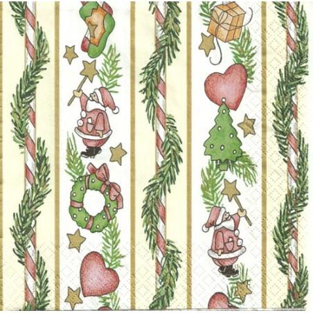Serwetka do decoupage - Świąteczne girlandy