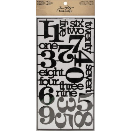 Elementy samoprzylepne, Idea-Ology Alpha Parts, Numeric Words & Numbers Black