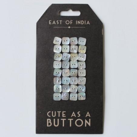 Guziki z masy perłowej, Button squares [EOI 3319]