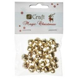 Dzwoneczki do dekoracji świątecznych - złote DP Craft