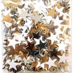 Cekiny gwiazdki białe i złote