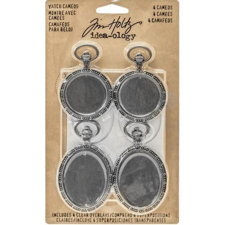 Metalowe ozdoby, Idea-Ology Metal Watch Cameos [TH93264]