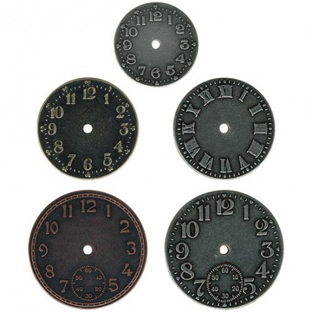 Ozdoby metalowe, Idea-Ology Timepieces Clock Faces, Antique Nickel, Brass & Copper [TH92831]