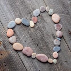 Serwetka - Serce z kamieni