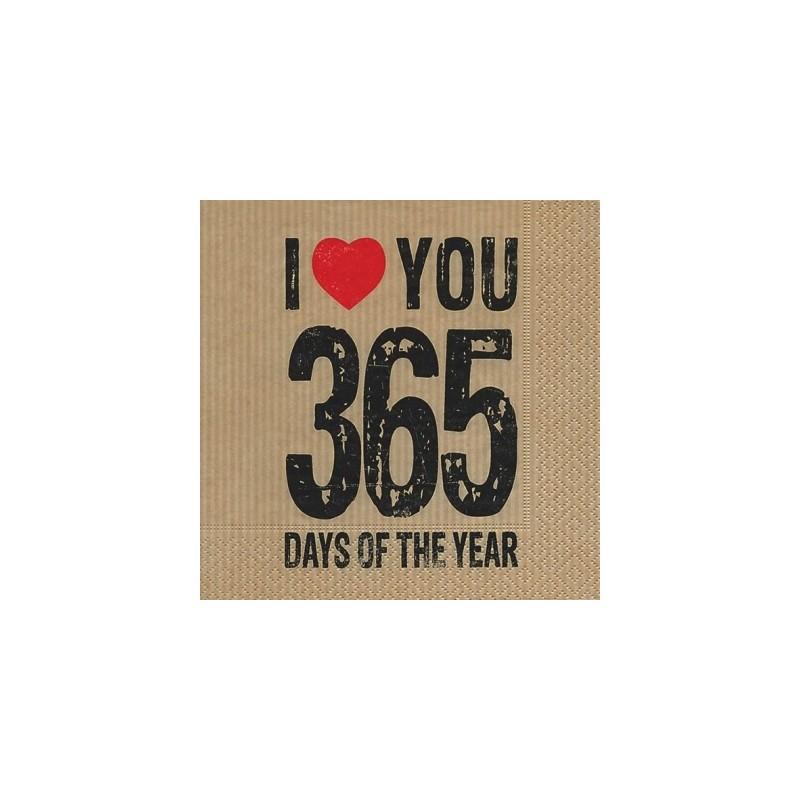 Serwetka do decoupage - 365 dni
