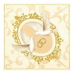 Serwetka do decoupage - Ślubne symbole