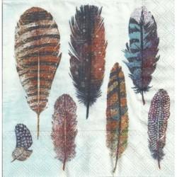 Serwetka - Kolorowe pióra