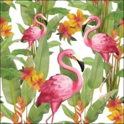 Serwetka - Flamingi