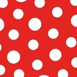 Serwetka do decoupage - Kropki czerwone