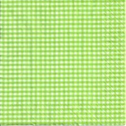 Serwetka - Zielona kratka