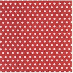 Serwetka do decoupage - Czerwone kropki, mini