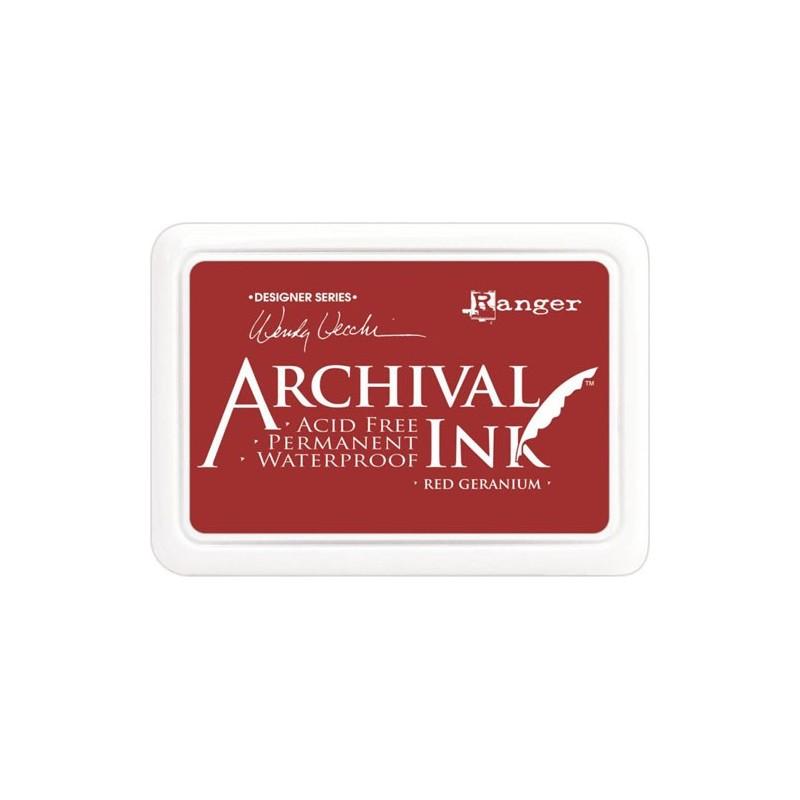 Tusz wodoodporny Archival, kolor Red Geranium - ciemnoczerwony