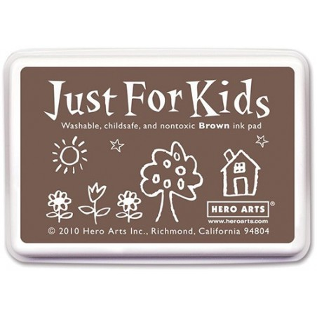 Tusz dla dzieci, Hero Arts Just For Kids Inkpad, Brown