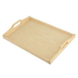 Taca prostokątna średnia - z surowego drewna - baza do decoupage