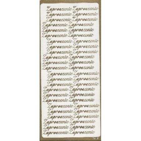 Naklejki peel-off, Zaproszenie, złote [7912]