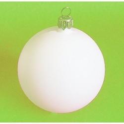 Bombka plastikowa biała 8 cm, baza do ozdobiania
