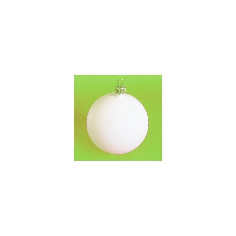 Bombka plastikowa biała 9 cm, baza do ozdobiania