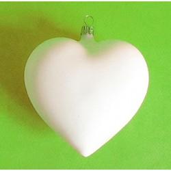 Bombka plastikowa, serce 9 cm