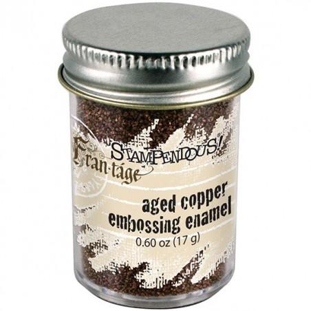 Puder do embossingu, Stampendous Aged Embossing Enamel, Copper [FREG035]