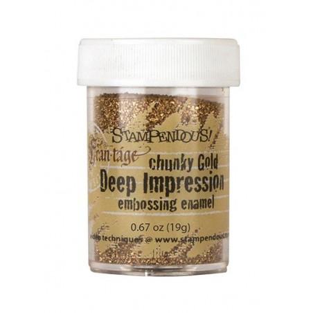 Puder do embossingu, Stampendous Frantage Deep Impression, Chunky Gold [FREG046]