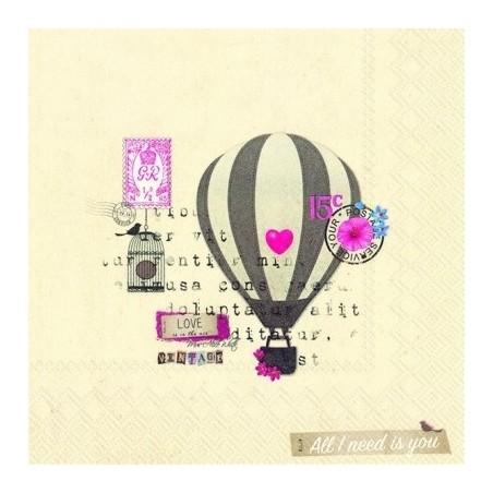 Serwetka - Balon love