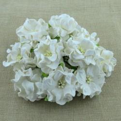 Kwiatki do scrapbookingu White Gardenia Flowers SAA-338 35 mm, 5 szt.