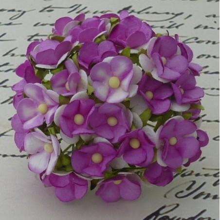 Kwiatki papierowe, 2-Tone Violet Sweetheart Blossom, 10 szt. [SAA-201]