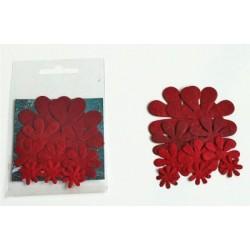 Kwiaty papierowe, czerwone...