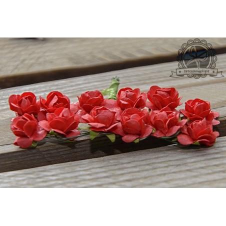 Bukiecik różyczek 1.5 cm, czerwone, 12 szt. [MK16552]