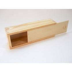 Piórnik z surowego drewna - baza do decoupage