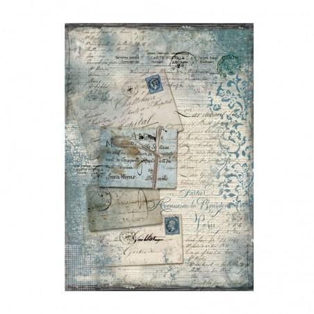 Papier ryżowy A4 [DFSA4220], Jeansowe pocztówki