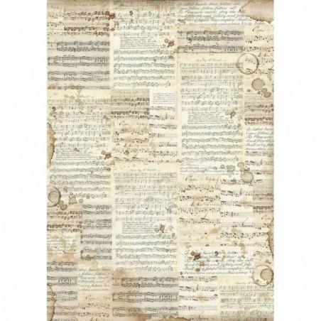 Papier ryżowy A3 [DFSA3004], Stare nuty