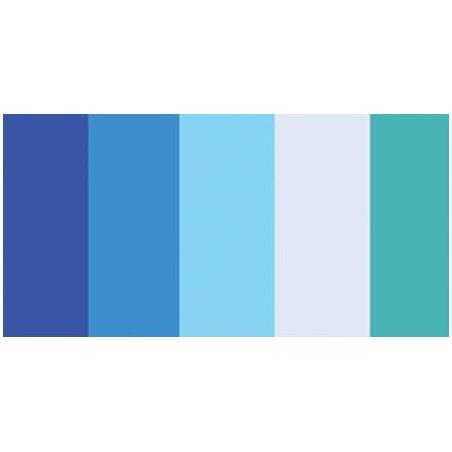 """Paski papieru do quillingu 3/8"""", Blue Shades (5 kolorów), 100 szt."""