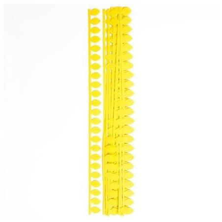 Płatkowe paski do quillingu, żółta stokrotka, 12 szt. [QGPQ-043]