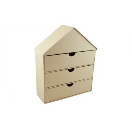 Komódka domek z paper-mache SCB271053 [Scrapberry's]