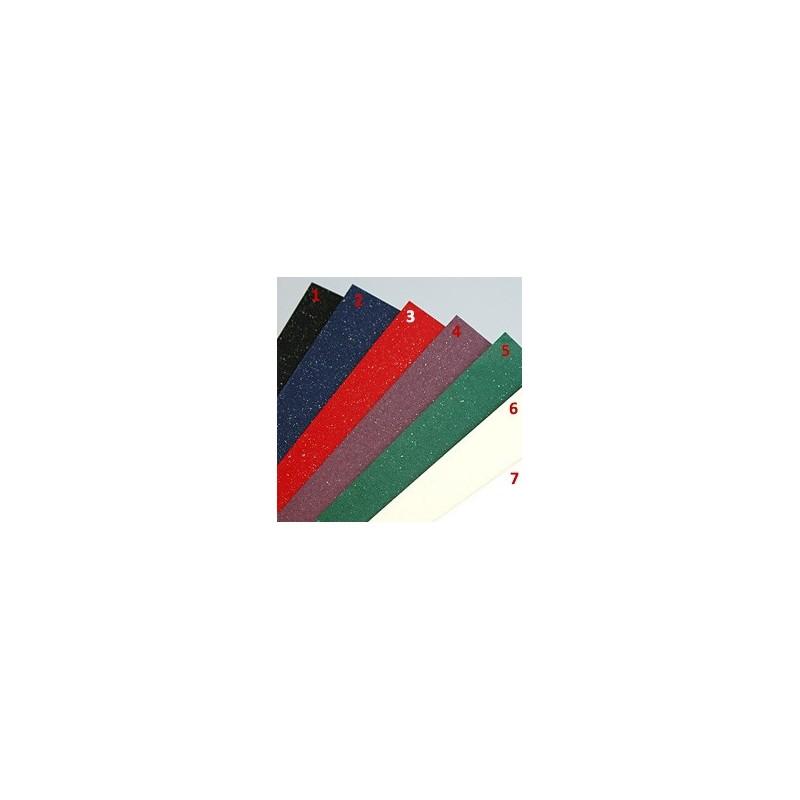 Papier wizytówkowy A4 z drobinkami miki - Mika czerwony