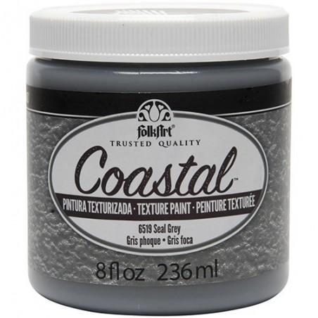Farba akrylowa FolkArt Coastal Texture Paint, Seal Grey, 236 ml