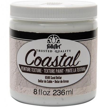 Farba akrylowa FolkArt Coastal Texture Paint, Sand Dollar, 236 ml