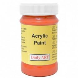 Farba akrylowa 100 ml - pomarańczowa - doskonała do decoupage