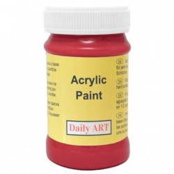 Farba akrylowa 100 ml - czerwona - doskonała do decoupage