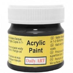 Farba akrylowa 50 ml - czarna - doskonała do decoupage