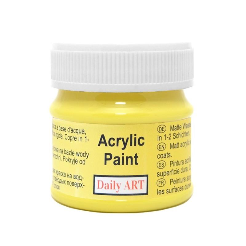 Farba akrylowa 50 ml - cytrynowa - doskonała do decoupage