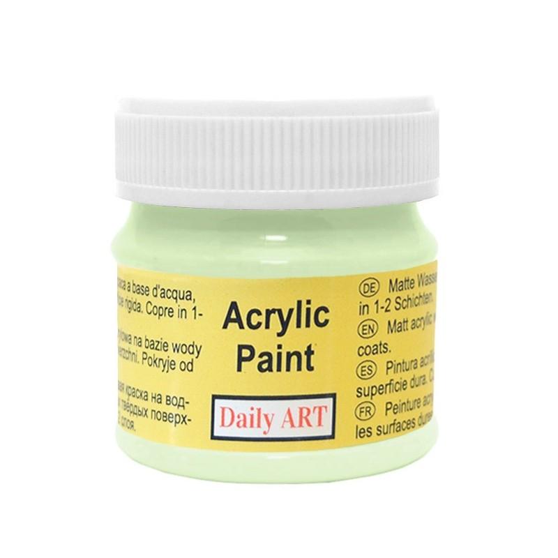 Farba akrylowa 50 ml - jasnozielona - doskonała do decoupage