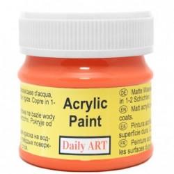 Farba akrylowa 50 ml - pomarańczowa - doskonała do decoupage