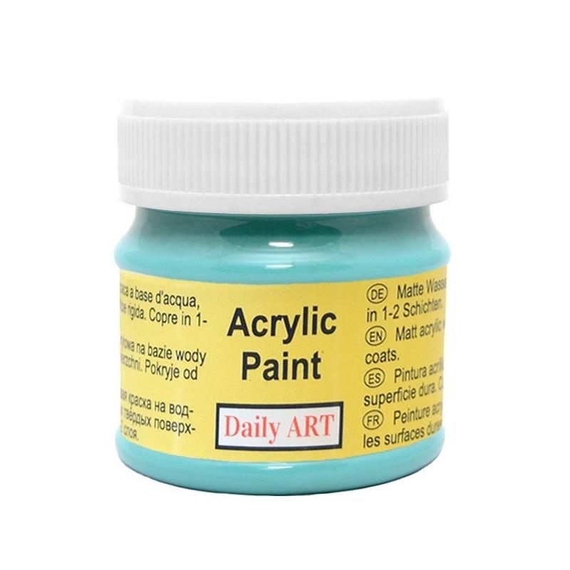 Farba akrylowa 50 ml - turkusowa - doskonała do decoupage
