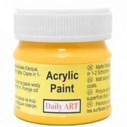 Farba akrylowa 50 ml - żółta - doskonała do decoupage